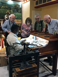 Gabriel, Barbara, Dick, and Lew check out the cigar-making process at the Hotel Nacional - Kristin Cass