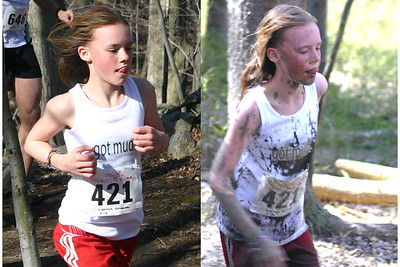 """Got Mud?"" Kristina Dittrich before and after mud in 2007."