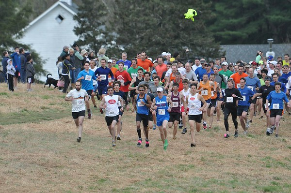 2012 Loop start. 1-2-3-4 finishers at the front. All 4 would break the course record in an excessively dry spring.