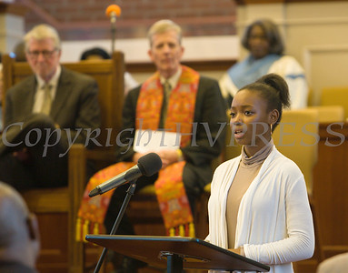 Many youth participated in the Bethel Missionary Baptist Church hosted 29th Annual Dr. Martin Luther King Jr. Community Commemorative Service Sunday, January 15, 2017 in Wappingers Falls, NY. Hudson Valley Press/CHUCK STEWART, JR.