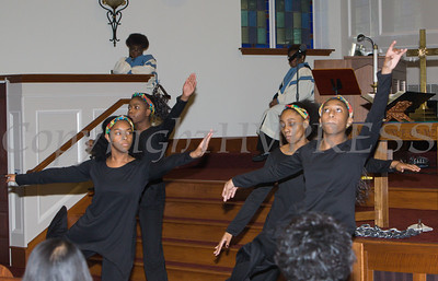 """A dance performace by """"Daughters of Destiny"""" at the Bethel Missionary Baptist Church hosted 29th Annual Dr. Martin Luther King Jr. Community Commemorative Service Sunday, January 15, 2017 in Wappingers Falls, NY. Hudson Valley Press/CHUCK STEWART, JR."""