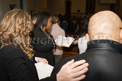 """The congregation joins hands in unity while singing """"We Shall Overcome"""" at the Bethel Missionary Baptist Church hosted 29th Annual Dr. Martin Luther King Jr. Community Commemorative Service Sunday, January 15, 2017 in Wappingers Falls, NY. Hudson Valley Press/CHUCK STEWART, JR."""