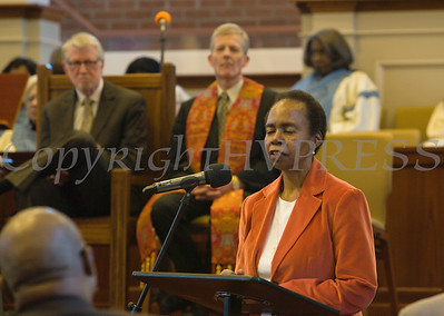 Many tributes were made to the late Lorraine M. roberts during the Bethel Missionary Baptist Church hosted 29th Annual Dr. Martin Luther King Jr. Community Commemorative Service Sunday, January 15, 2017 in Wappingers Falls, NY. Hudson Valley Press/CHUCK STEWART, JR.