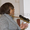 City of Newburgh Councilwoman Cindy Holmes (Ward 4) offers remarks during the Black History Committee of the Hudson Valley 49th Annual Martin Luther King Jr Celebration on Monday, January 16, 2017 at New Hope Baptist Church in Newburgh, NY. Hudson Valley Press/CHUCK STEWART, JR.