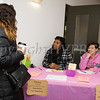 Dorice Barwell and Annnette Lopez register girls for the Newburgh Girl Power Program Third Annual Day of Service for Girls in honor of Martin Luther King Jr. on Monday, January 16 at Safe Harbors of the Hudson in Newburgh, NY. Hudson Valley Press/CHUCK STEWART, JR.
