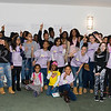 Participants of the Newburgh Girl Power Program Third Annual Day of Service for Girls in honor of Martin Luther King Jr. pose for a group photo on Monday, January 16 at Safe Harbors of the Hudson in Newburgh, NY. Hudson Valley Press/CHUCK STEWART, JR.