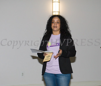 Doris Lopez welcomes the young girls to the Newburgh Girl Power Program Third Annual Day of Service for Girls in honor of Martin Luther King Jr. on Monday, January 16 at Safe Harbors of the Hudson in Newburgh, NY. Hudson Valley Press/CHUCK STEWART, JR.