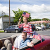 City of Newburgh Mayor Judy Kennedy waves to the crowds lined up along Broadway for the City of Newburgh annual Memorial Day Parade on Saturday, May 27, 2017. Hudson Valley Press/CHUCK STEWART, JR.