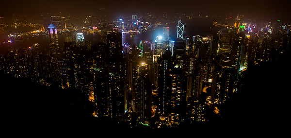 Shot of Hong Kong from Victoria Peak.  Plan on lots of line standing time both going and returning.