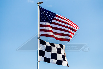 American and Checkered Flags