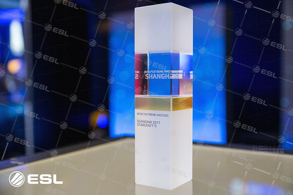 The trophy of the Intel Extreme Masters Shanghai 2017 Starcraft II tournament
