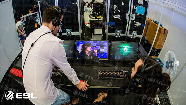 Pig and Maynarde in the caster booth