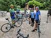 Ready to ride at the B&B - Dave, Nilesh, Kate, John, Tsun, and Jeff