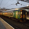 London Midland Class 153 Sprinter no. 153356 and a classmate stand at Coventry on the Nuneaton shuttle.