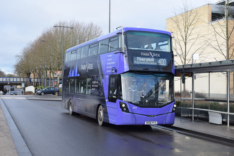 Brand New Oxford Bus Company Wright Streetdeck SK66HTX 664 in Frideswide Square on the 400 Park & RIde service to Thornhill.