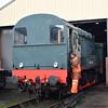 """Class 08 no. 08604 (604) """"Phantom"""" at the Didcot Railway Centre."""