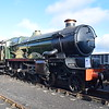 "GWR Castle Class no. 5051 ""Drysllwyn Castle / Earl Bathurst"" at Didcot Railway Centre."