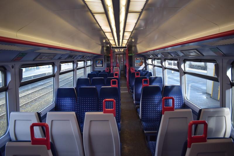 GWR Class 165 Turbo no. 165132 interior at Oxford on a Paddington local.