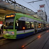 Croydon Tramlink Bombardier Flexity CR4000 tram no. 2545 at East Croydon station on the 1 to Elmers End.