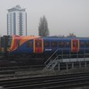 South West Trains Class 450 Desiro no. 450074 approaching Clapham Junction.