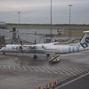 Flybe Bombardier Dash-8 Q400 G-ECOJ at Birmingham Airport.