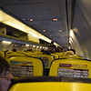 Ryanair Boeing 737-800 EI-EMR interior at Birmingham Airport on FR3601 to Malta.