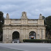 The Porte Des Bombes gate into Valletta, Malta.