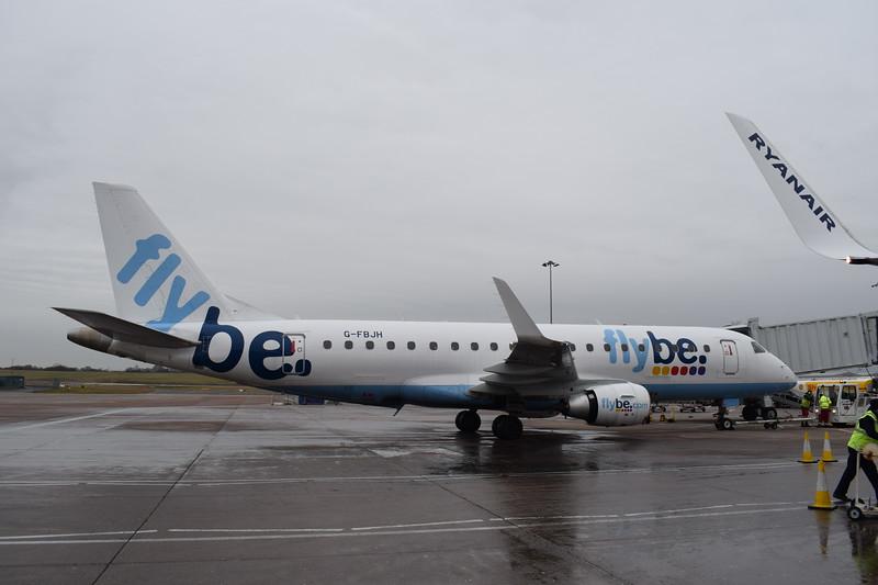 Flybe Embraer ERJ-175 G-FBJH at Birmingham Airport.