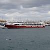 Captain Morgan Cruises ship seen from Sliema.