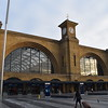 The stunning Great Northern Railway facade of London Kings Cross station.