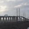 The Queen Elizabeth II cable stayed suspension bridge at the Dartford Crossing.