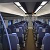 SouthEastern Class 395 Javelin no. 395025 interior at London St. Pancras International on a Ramsgate service.
