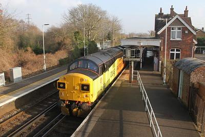 37099 Bosham 17/01/17 1Q52 Littlehampton to Totton Yard