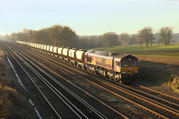 66182 Potbridge 19/01/17 6Z55 Eastleigh to Wembley