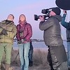 Chris Packham and Michaela Straghan from BBC Winterwatch