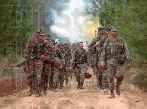 MET060600 Marines drill