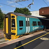 Arriva Trains Wales Class 158 Express Sprinter no. 158823 at Birmingham International on Cambrian Coast Line services.