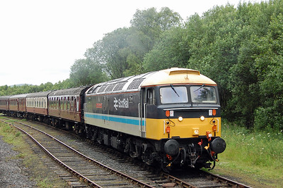 47712 'Lady Diana Spencer' is pictured in the loop at Ramsbottom from the departing 1J63 as it waits too work the 2E38 1502 shuttle to Bury (07/07/2017)