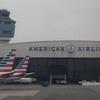 The American Airlines hangars at New York LaGuardia Airport.