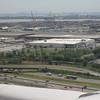 The Newark Bay docks with Staten Island beyond.
