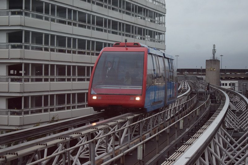 The Birmingham Airport Skyrail people mover system.