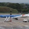 BMI Embraer ERJ-145 G-RJXG at Birmingham Airport.