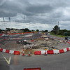 Roadworks to improve the Bicester Village junction on Oxford Road.