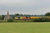29 June 2017 :: The next job for the Test Train 1Q23 was to travel from Salisbury to Southampton and back and pictured is 67027 passing St John's Church at Lockerley