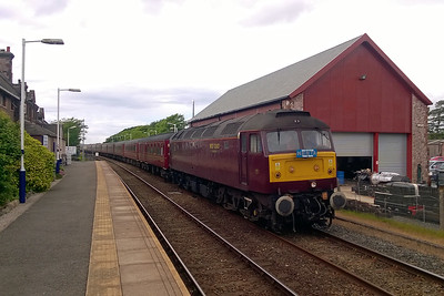 47826 awaits departure from Ravenglass with NENTA's 1Z26 1547 return charter to Norwich (03/06/2017)