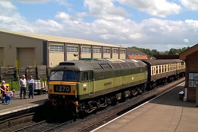 Day three of the West Somerset Railway's Diesel Gala brought some prolonged spells of sunshine. 47840 is pictured here at Bishops Lydeard with the 1455 to Minehead (11/06/2017)