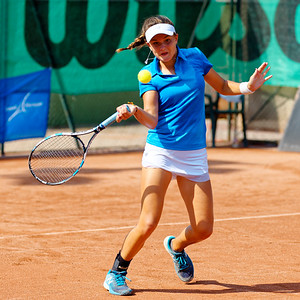 01.02a Clara Burel - Team France - Junior fed cup european final round girls 16 years and under 2017