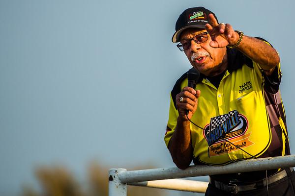 Knoxville Raceway flagman Doug Clark