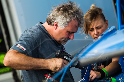 Dennis Erb, Jr. (L) and crew chief Heather Lyne (R)
