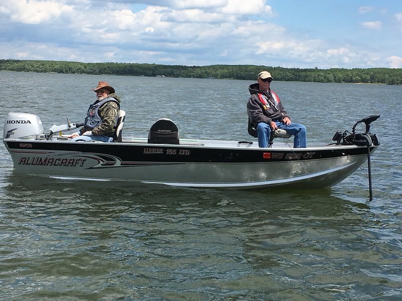 DARREL DEGELAU  AND TOM OTTER ON LEECH LAKE, MN